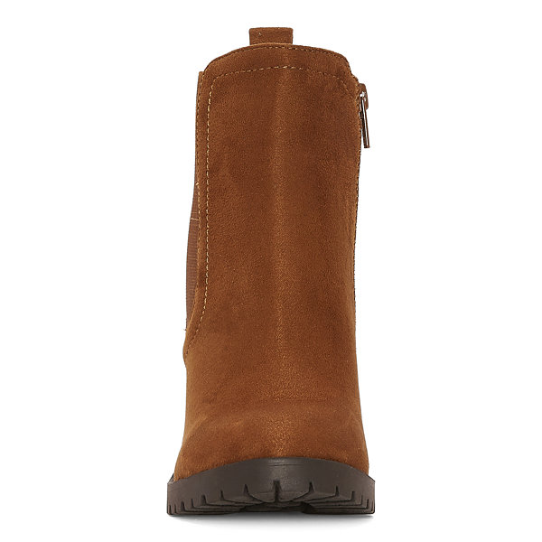 a.n.a. Womens Rancho Motorcycle Boots Block Heel