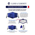 Land Of Liberty Solid 3 Pack Unisex Adult Face Mask