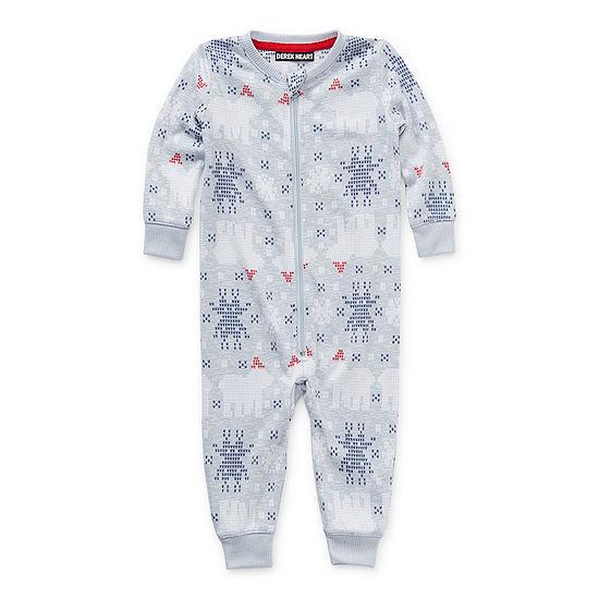 North Pole Trading Co. Polar Bear Baby Unisex Knit Long Sleeve One Piece Pajama