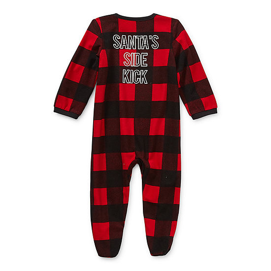 North Pole Trading Co. Buffalo Plaid Baby Unisex Knit Long ...