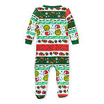 Dr. Seuss Grinch Holiday Family Baby Unisex Microfleece Grinch Long Sleeve One Piece Pajama