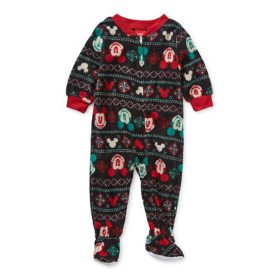 Disney Collection Baby Unisex Microfleece Mickey Mouse Long Sleeve One Piece Pajama