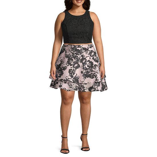 City Triangle-Juniors Plus Sleeveless Dress Set