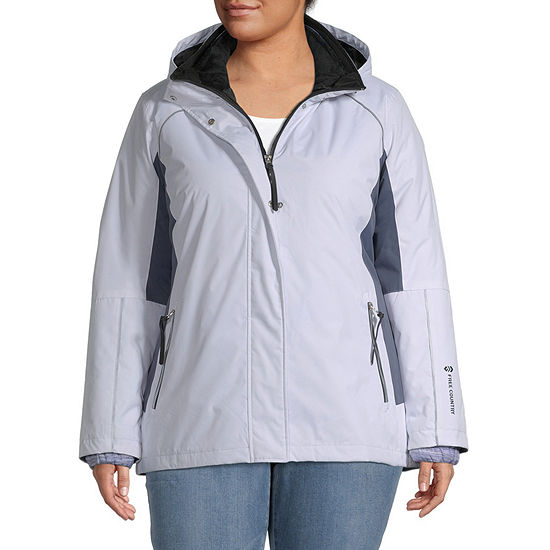 Free Country Hooded Wind Resistant Water Resistant Heavyweight 3-In-1 System Jacket-Plus