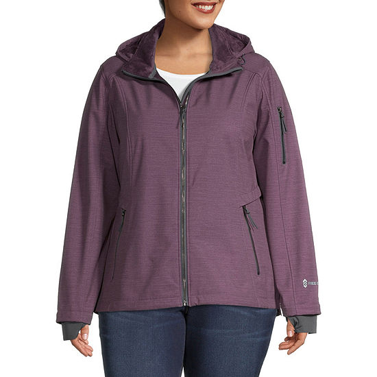 Free Country Wind Resistant Water Resistant Midweight Softshell Jacket-Plus