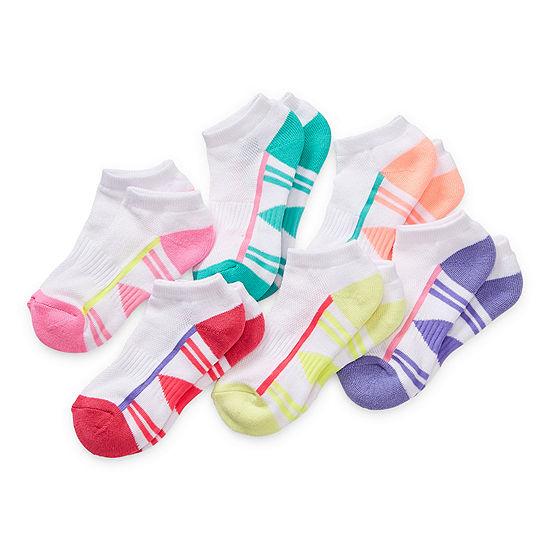 Xersion Little & Big Girls 6 Pair Low Cut Socks