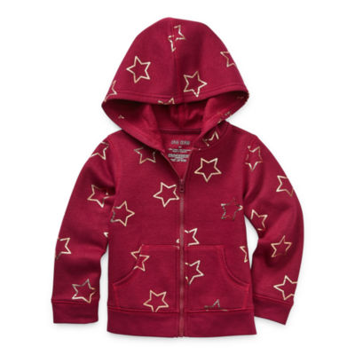 Okie Dokie Fleece Toddler Girls Cuffed Sleeve Hoodie