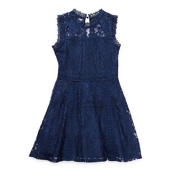 Knit Works Little & Big Girls Sleeveless A-Line Dress