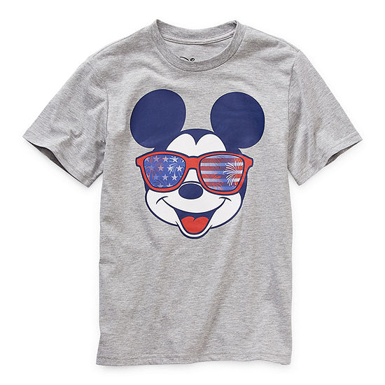 Little & Big Boys Crew Neck Mickey Mouse Short Sleeve Graphic T-Shirt