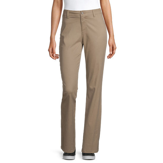 Dickies-Juniors Worker Womens Mid Rise Bootcut Pull-On Pants