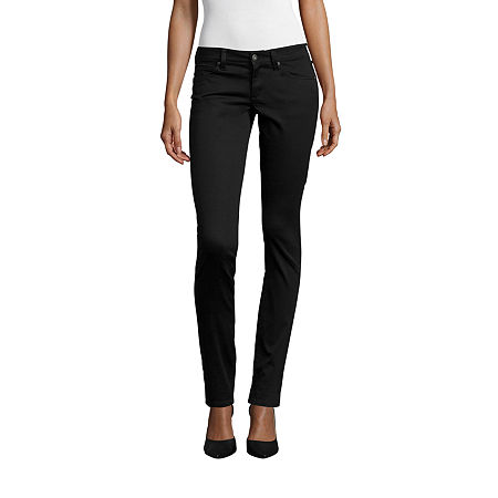 Arizona Womens High Rise Skinny Pull-On Pants, 7 , Black