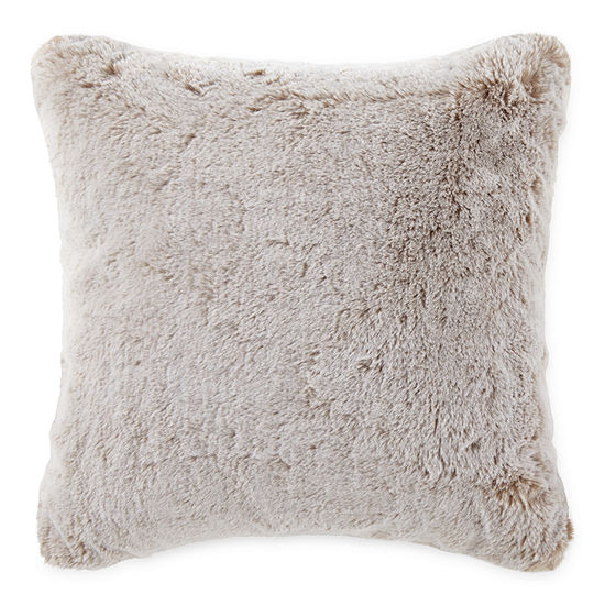 18x18 Faux Fur Throw Pillow
