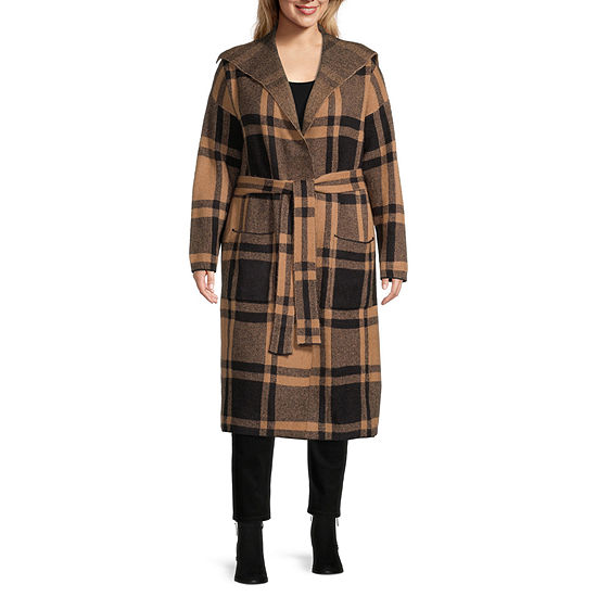 Liz Claiborne Plaid Coatigan - Plus