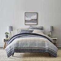 Home Expressions Mercer Stripes Complete Bedding Set w/Sheets Deals