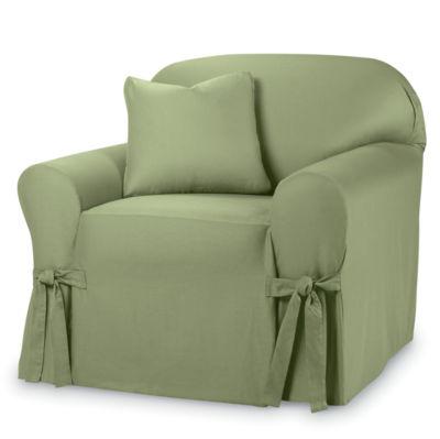 SURE FIT® Cotton Duck 1-pc. Chair Slipcover