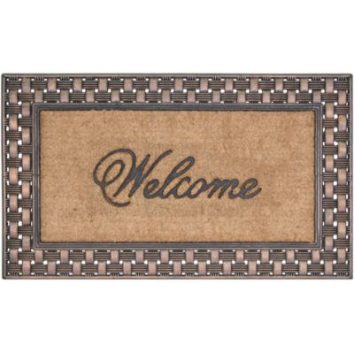 Koko Framed Basketweave Coir Doormat