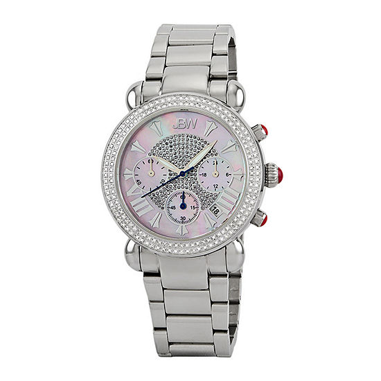 JBW Victory Womens Diamond-Accent Stainless Steel Bracelet Watch JB-6210-160-C
