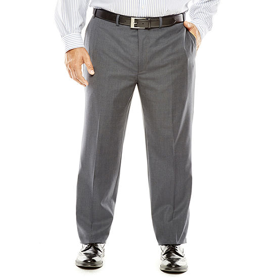 Collection By Michael Strahan Gray Weave Suit Pants Big Tall
