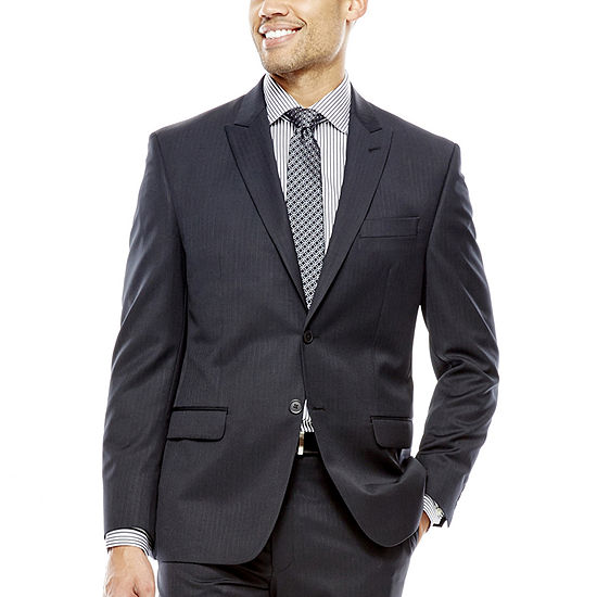b982e9da1 Collection by Michael Strahan Black Herringbone Suit Jacket - Classic Fit -  JCPenney