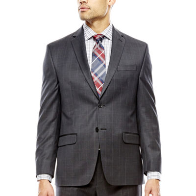Collection by Michael Strahan Charcoal Windowpane Suit Jacket - Classic Fit