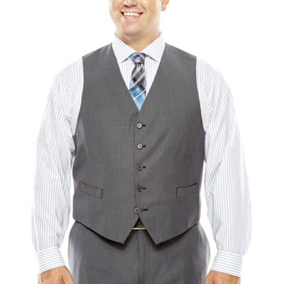 Collection by Michael Strahan Gray Weave Suit Vest - Big & Tall