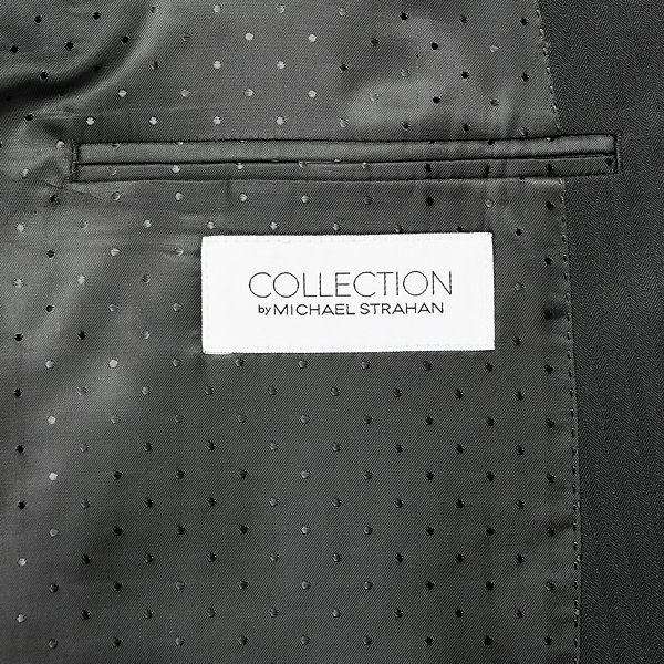 Collection by Michael Strahan Black Herringbone Suit Jacket - Big & Tall