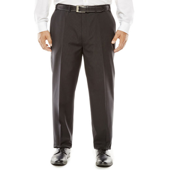 Collection by Michael Strahan Striped Black Suit Pants - Big & Tall