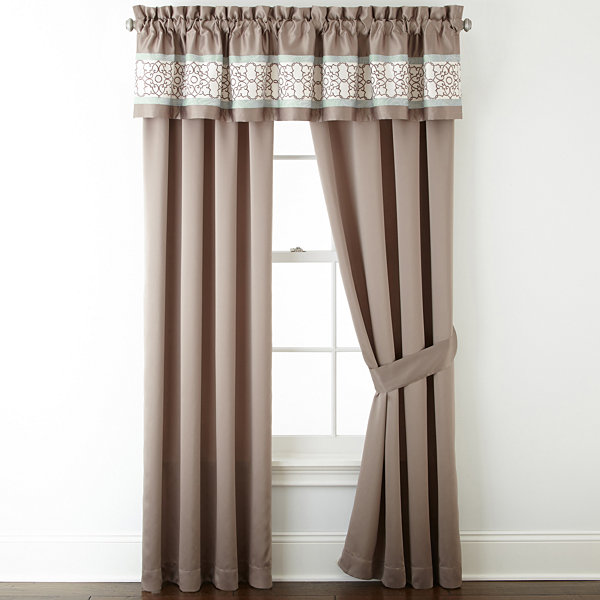 Home Expressions™ Lara 2-Pack Rod-Pocket Curtain Panels