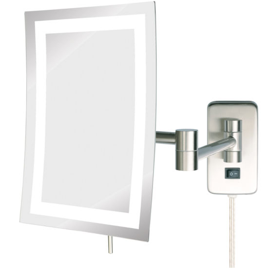 Jerdon Style LED-Lighted Rectangular Wall Mirror