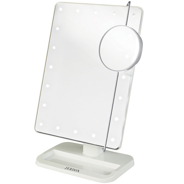 Jerdon Style LED-Lighted Makeup Mirror