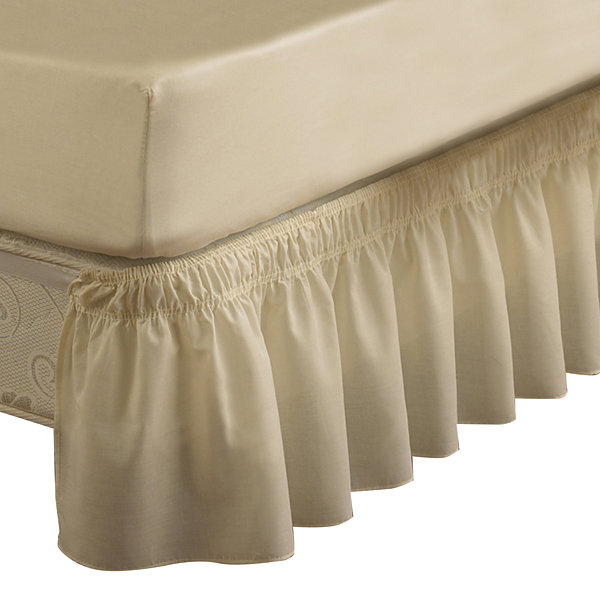 EasyFit Wrap-Around Solid Ruffled Bedskirt