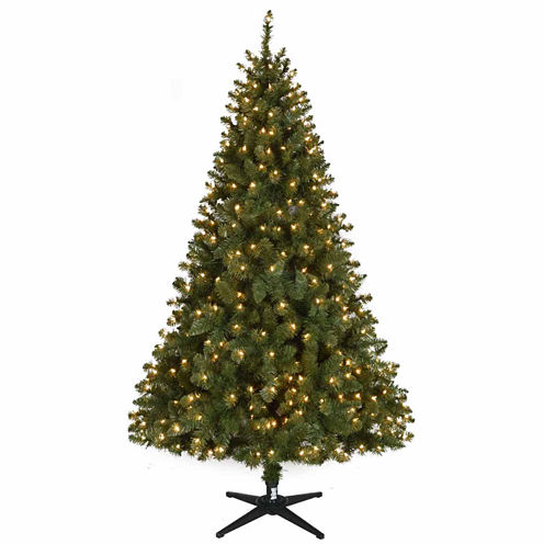 North Pole Trading Co. 6 1/2 Foot Linden Pre-Lit Christmas Tree