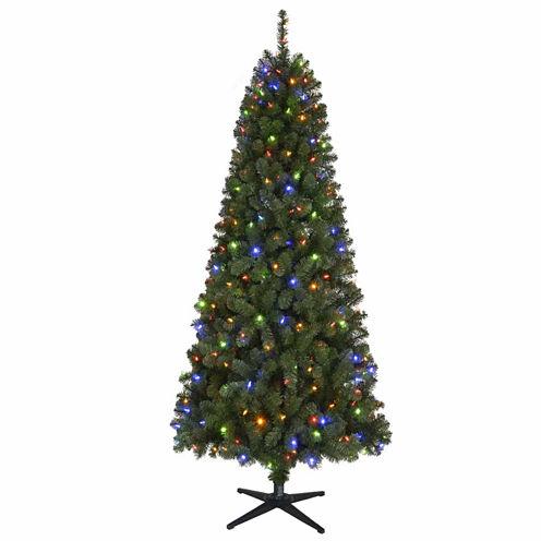 North Pole Trading Co. 7 Foot Cyprus Pre-Lit Christmas Tree