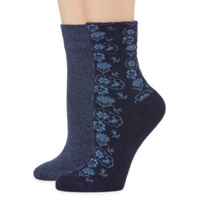 Mixit 2-pc. Quarter Socks - Womens