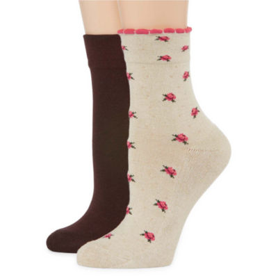 Pillowsole2-pc. Ankle Socks - Womens