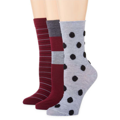 Libby Edelman 3 Pair Crew Socks - Womens