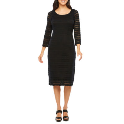 Ronni Nicole 3/4 Sleeve Lace Circles Sheath Dress