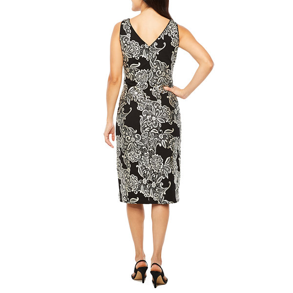 Ronni Nicole Sleeveless Brocade Sheath Dress