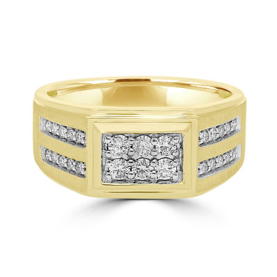 Mens 1/2 CT. T.W. Round White Diamond 10K