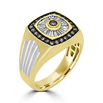 Mens 1 CT. T.W. Genuine Brown Diamond 10K Gold Fashion Ring