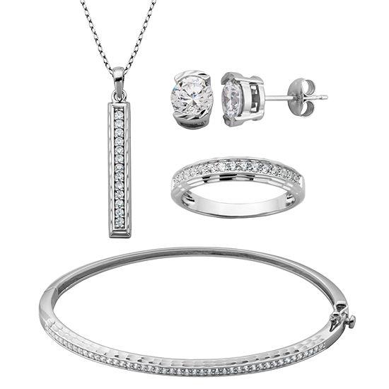 Diamonart Womens 4-pc. 3 1/10 CT. T.W. Cubic Zirconia Jewelry Set