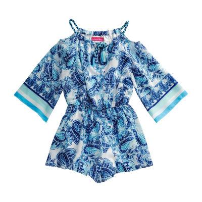 Emily West 3/4 Sleeve Kimono Sleeve Skater Dress - Big Kid Girls