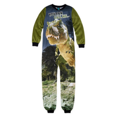 Cuttlebug Dinosaur Long Sleeve One Piece Pajama-Boys