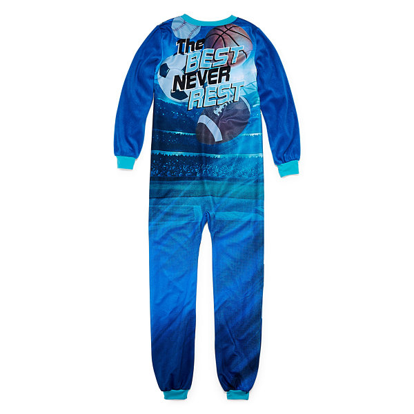 Cuttlebug All Sport Long Sleeve One Piece Pajama-Boys