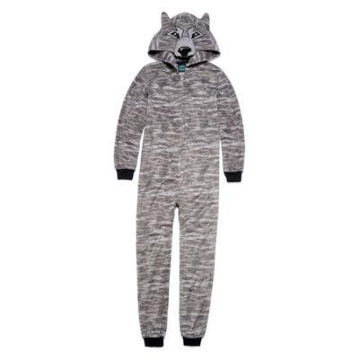 Grey Wolf Blanket Sleeper - Boys 4-20