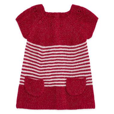 Arizona Short Sleeve A Line Dress Baby Girls JCPenney