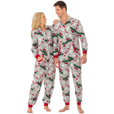 Fleece Onesies® One Piece Pajama More Naughty Than Nice Print-Men's