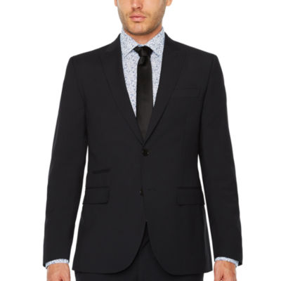 JF J.Ferrar Checked Slim Fit Stretch Suit Jacket-Slim