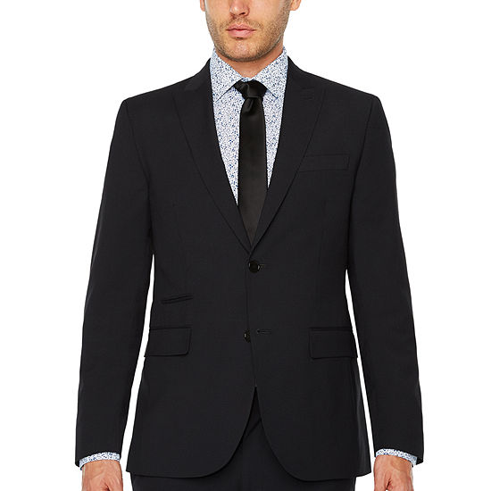 Jf Jferrar Checked Slim Fit Stretch Suit Jacket Slim