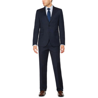 JF J.Ferrar Pin Dot Slim Fit Stretch Suit Jacket-Slim
